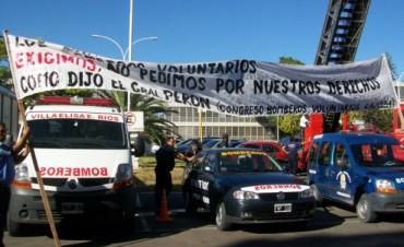 Los Bomberos Voluntarios protestarán frente a la casa de Gobierno