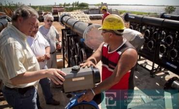 Se termina de construir el primer acueducto entrerriano en Villa del Rosario