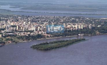 La creciente del Río Paraná en la Capital de la provincia