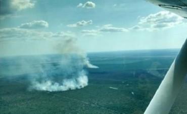 Se descontroló el incendio de un campo en la zona de Maria Grande