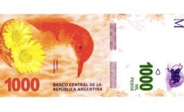 Lanzarán el billete de 1.000 pesos