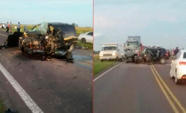 Tres personas murieron en un choque frontal en la ruta 12, en Corrientes