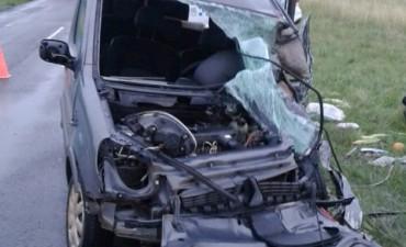Un hombre falleció tras choque frontal y despiste en la Ruta Nacional N 127