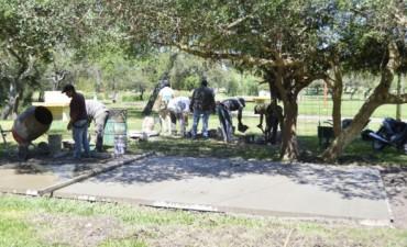 Siguen los trabajos en el Camping Municipal