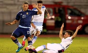 El Sub 20 argentino volvió a empatar en el final, esta vez ante Uruguay