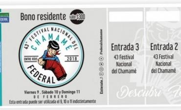 BONO DE RESIDENTES A LA VENTA DEL 43º FESTIVAL NACIONAL DEL CHAMAMÉ