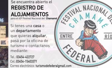 CONTINÚA ABIERTO EL REGISTRO DE ALOJAMIENTOS PARA LOS DÍAS DE FESTIVAL