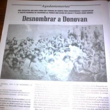 La calle Dónovan en los medios nacionales