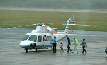 Macri envió a Punta del Este el helicóptero presidencial para trasladar a Awada y Antonia