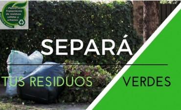 SEPARACIÓN DE RESIDUOS VERDES