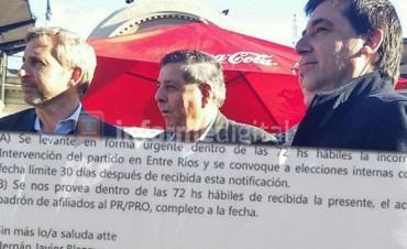 Se judicializó la intervención del PRO en Entre Ríos