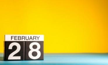 Febrero tiene 28 días