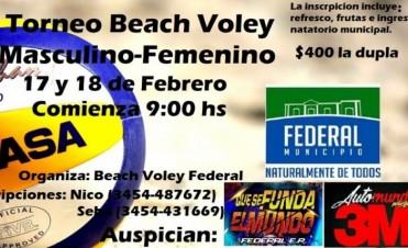 SE DISPUTARÁ UN NUEVO TORNEO DE BEACH VOLEY EN FEDERAL