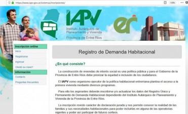 Más de 10.000 familias ya se inscribieron en el registro online de IAPV