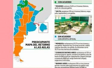 A una semana del inicio de clases, sólo dos provincias acordaron con docentes