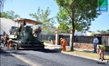 Comenzó el re asfaltado de las primeras calles del Proyecto Mejoramiento Vial