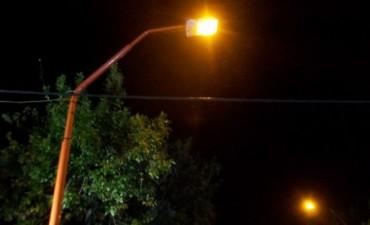 Nueva iluminación en calle Urquiza