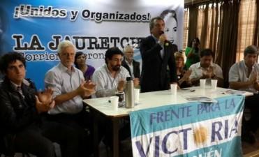 Sergio Urribarri estuvo en Neuquen presentando su proyecto presidencial