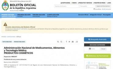 La Anmat prohibió el uso de un producto capilar y tres insumos médicos por irregularidades