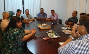Reunión de la Rural de Federal con autoridades locales y provinciales
