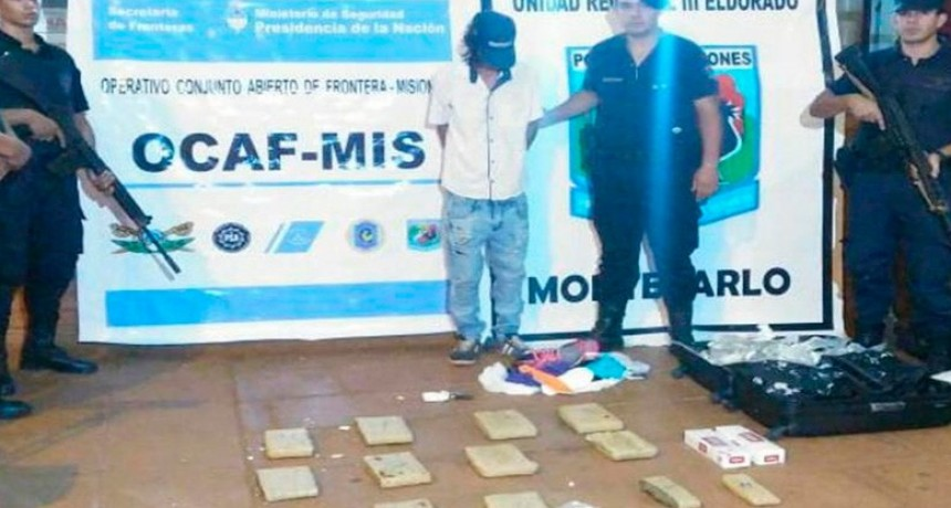 Detuvieron a un hombre que viajaba hacia Entre Ríos con 12 panes de marihuana