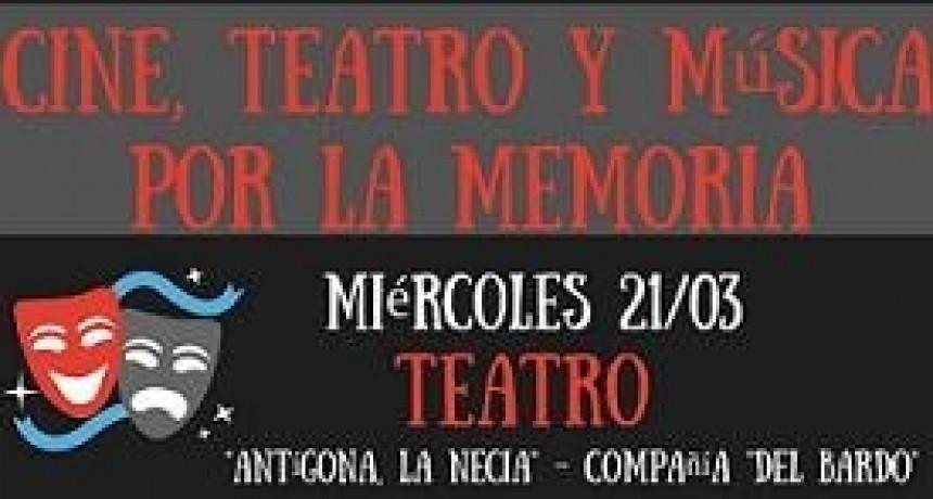 Teatro, cine y música por la memoria en Federal.