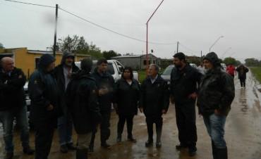 El Ministro Benedetto y Chapino recorrieron la zona para evaluar la situación