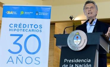 El Presidente presentó los nuevos créditos hipotecarios a 30 años: Los detalles