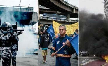 Huelga contra Temer paralizó a Brasil con incidentes en varias ciudades
