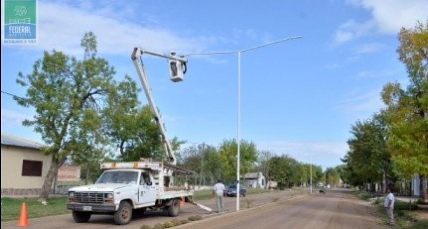 El Municipio continua con la colocación de luminarias led en la Ciudad