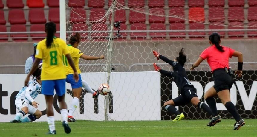 Las argentinas no pudieron hacer nada ante el poderoso Brasil