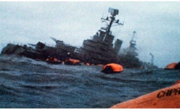 Se conmemora un nuevo aniversario del hundimiento del crucero General Belgrano