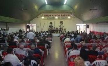El congreso de la UCR fue convocado a sesionar el 24 de mayo en Sauce de Luna
