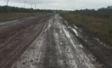 Increíble estado en la Ruta provincial N 5