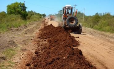 Una esperada obra se concreta : Reponen el ripio en la Ruta N 5