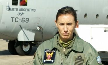 Mariela Santamaría, la capitán que pilotea el
