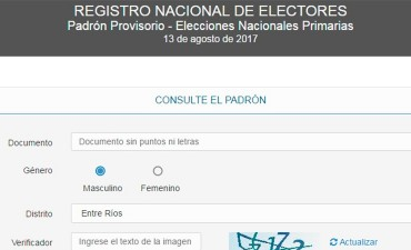 Ya se puede consultar por Internet el padrón electoral