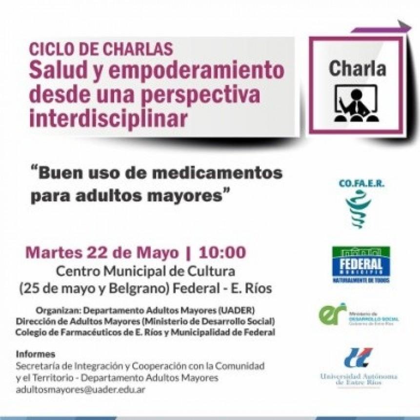 """CHARLA: """"BUEN USO DE MEDICAMENTOS PARA ADULTOS MAYORES"""""""