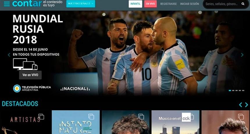 El Gobierno lanzó Cont.ar, la plataforma gratis que transmitirá el Mundial