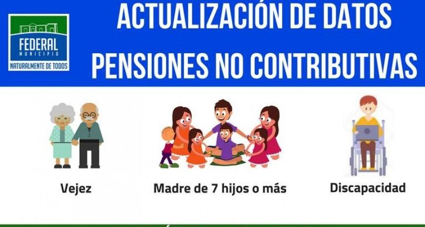 Actualización de datos Pensiones No Contributivas