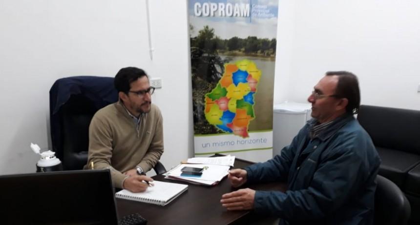 Encuentro de trabajo del Int. Boxler y el Sub-Secretario de Medio Ambiente de Entre Ríos