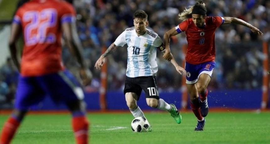 Argentina-Haití: la selección se impuso con tres goles de Lionel Messi y uno de Sergio Agüero