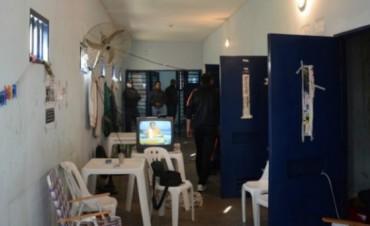 Las celdas donde estan detenidos los policias en la U.P. de Federal