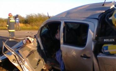 Accidente en la Ruta Nacional N° 127 en la zona de La Calandria