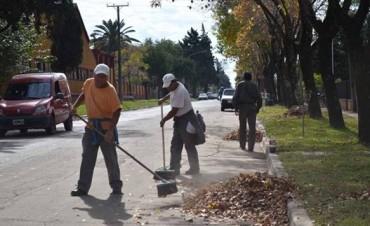 Trabajos el área de Obras Públicas en distintos sectores de la ciudad