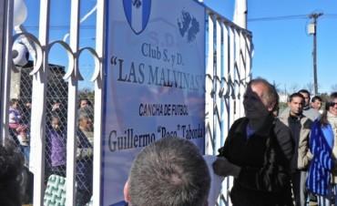 Malvinas inauguro oficialmente su cancha Guillermo