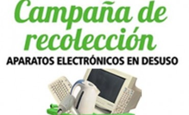 En julio se inicia la campaña de recolección de residuos eléctricos y electrónicos