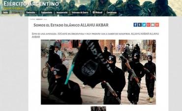 Hackearon la página del Ejército Argentino con un supuesto mensaje de ISIS