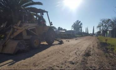 Trabajos de recuperacion en las calles de C. Bernardi
