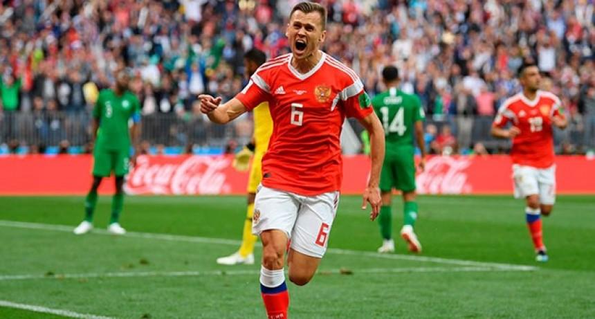 Rusia goleó 5-0 a Arabia Saudita en el primer partido del Mundial 2018